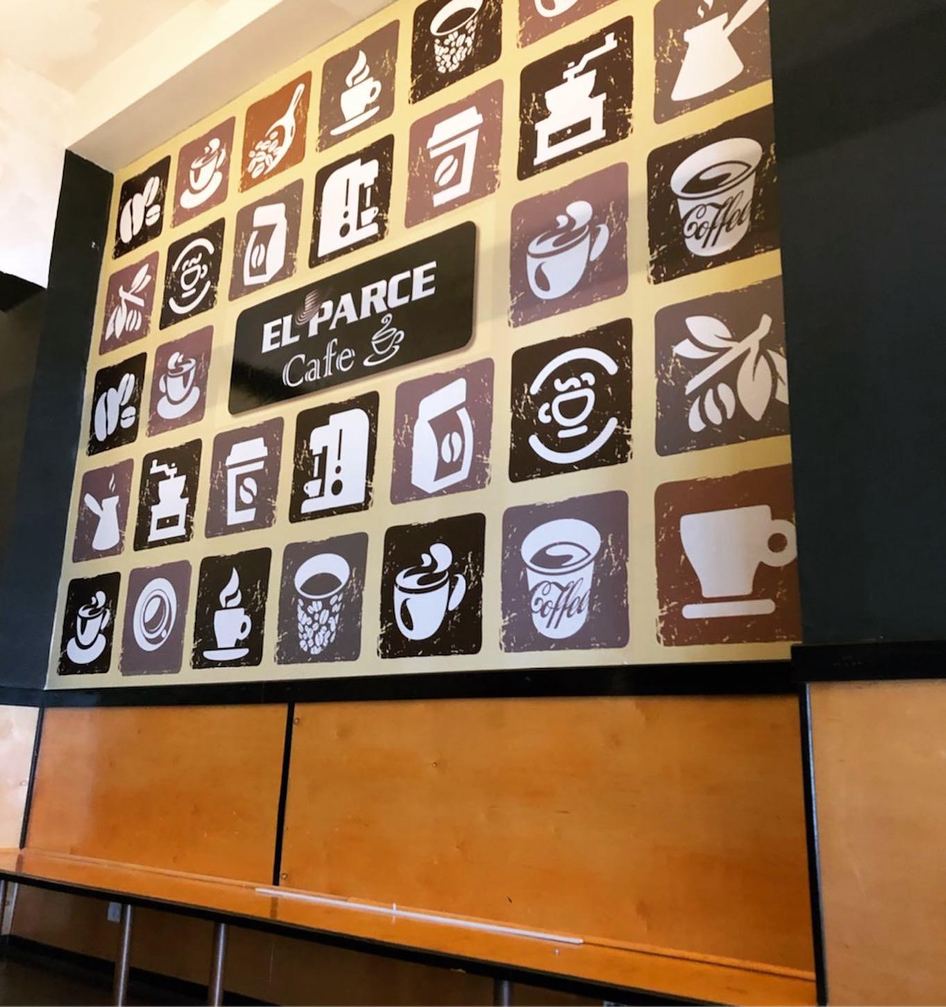 Cafe interior wall