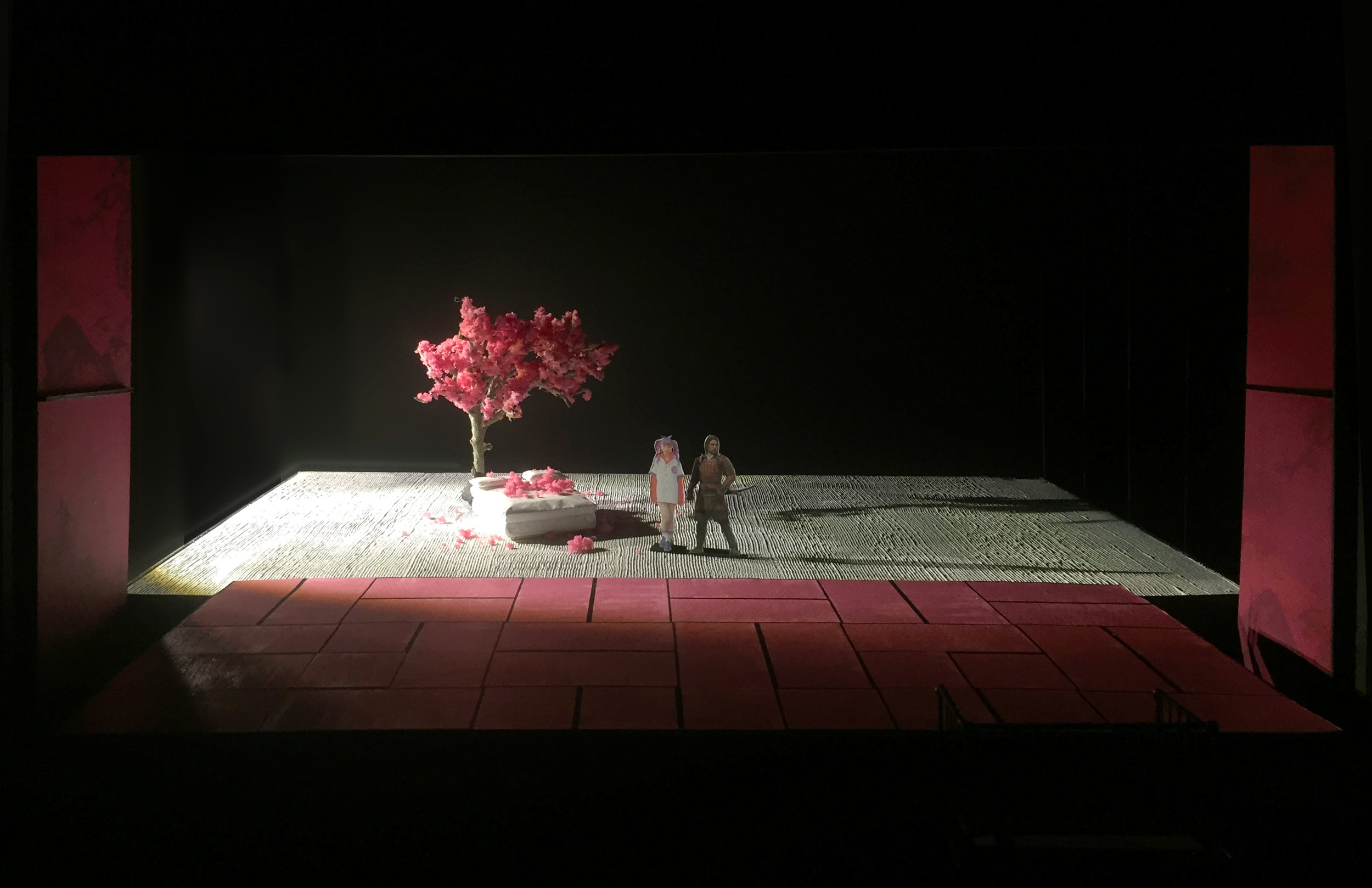 "ACT 01 FINALE - The Nuptial Bed      ""Love me just a little""    1/2"" scale model"