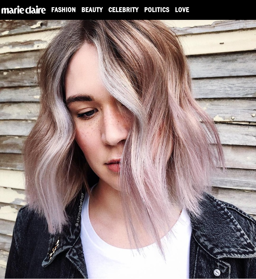 """MARIECLAIRE.COM - """"'VANILLA LILAC' HAIR IS THE FALL'S NEWEST SHADE YOU'LL ACTUALLY LOVE"""""""
