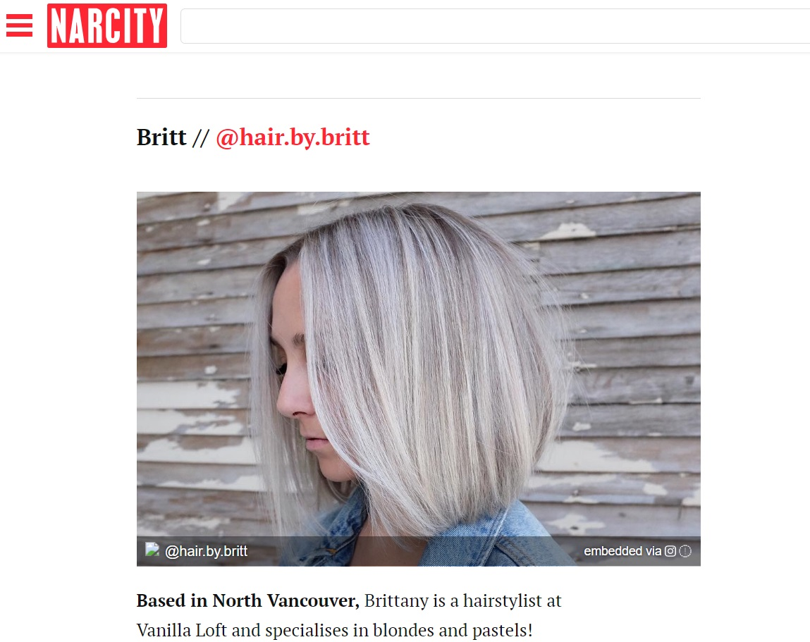 """NARCITY.COM - """"30 Hairstylists in Vancouver You need to know about in 2018"""""""