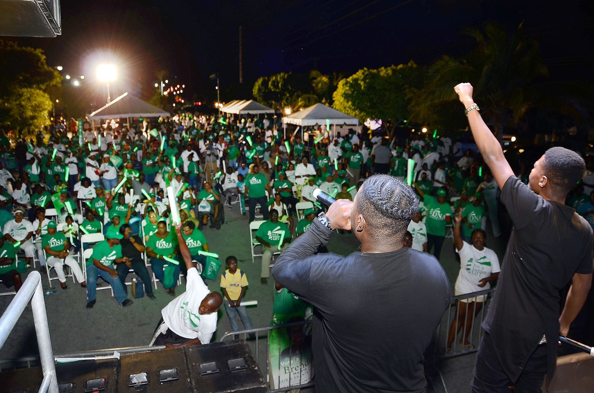 """DNAs attend """"The Green Light Rally"""" part 2 in Carmichael ahead of the 2017 election."""