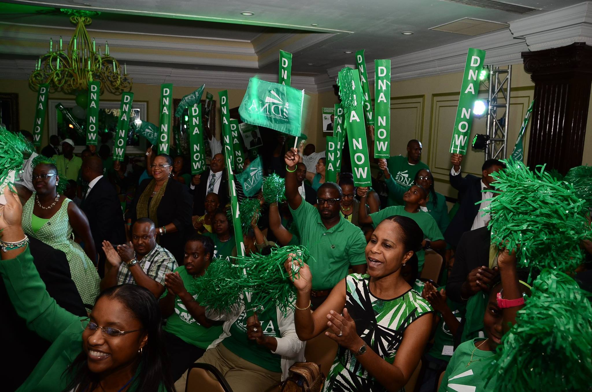 """Party supporters and delegates convene at Breezes Resort during the Party's first Convention in September of 2016.  The event was held under the theme """"The Power of Now"""""""