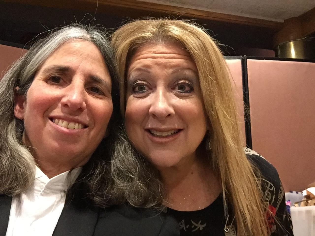Lisa Geduldig and Elayne Boosler, 2016