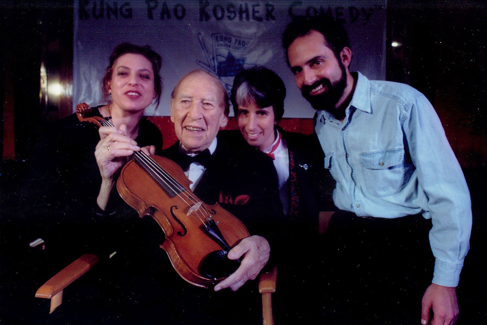 Judith Sloan, Henny Youngman, Lisa Geduldig, Charlie Varon, 1997