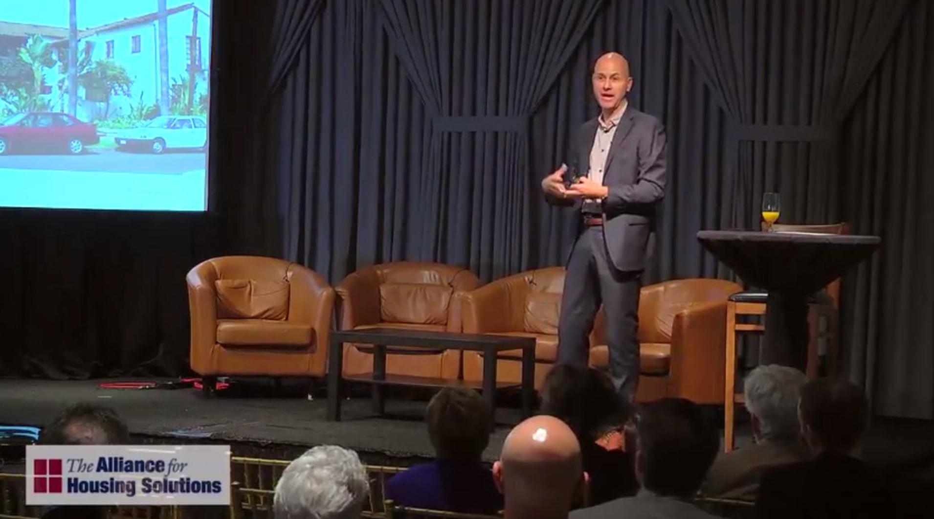 Daniel Parolek addressing the Leckey Forum