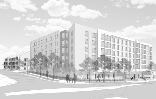 Rendering of Proposed Trenton Street Apartments