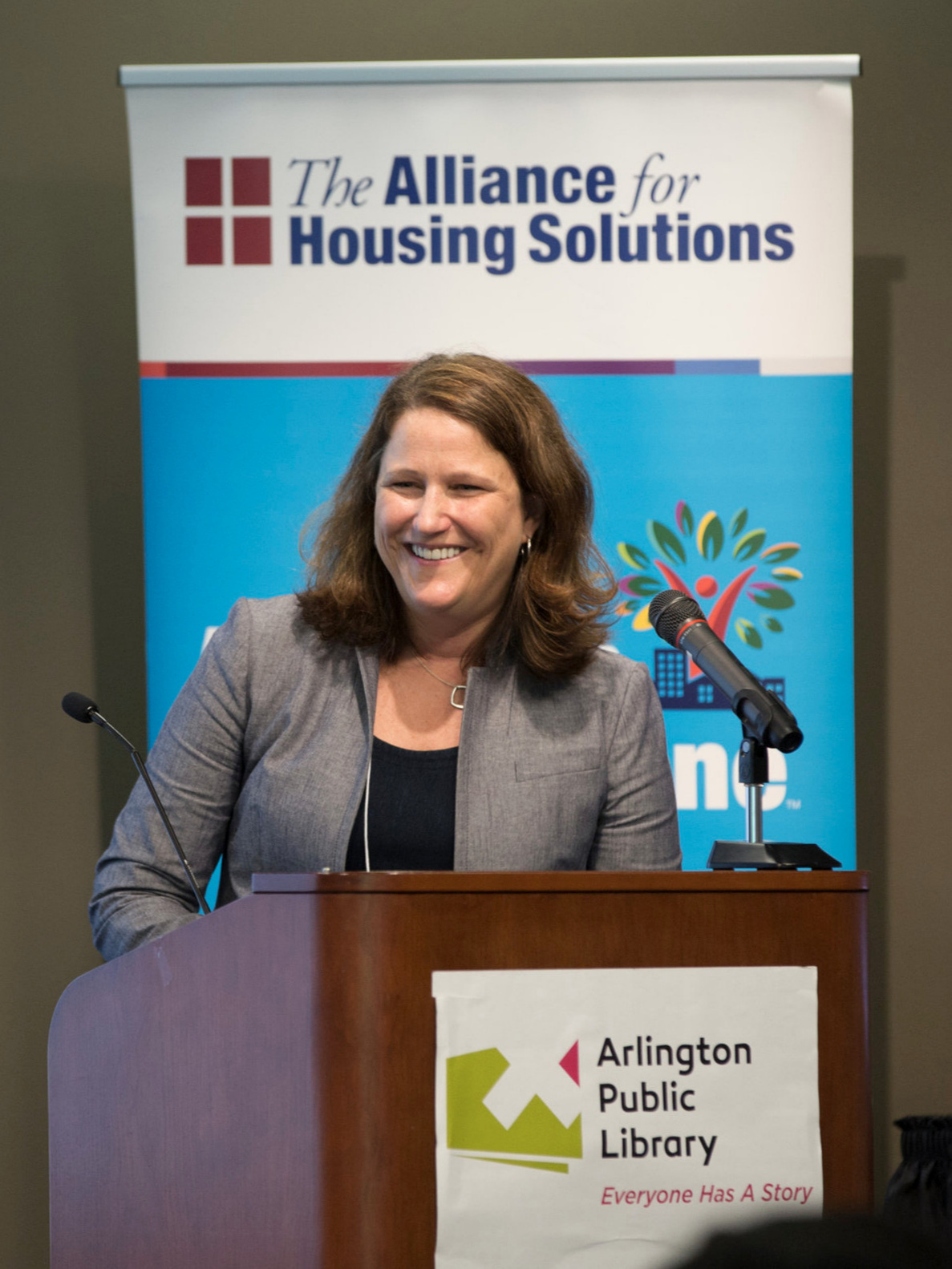 """We can't eliminate single-family zoning … can we?"" Andrea Brennan, housing policy and development director for the city of Minneapolis, spoke at the annual Leckey Forum June 5.  Photo by Terry Belt"