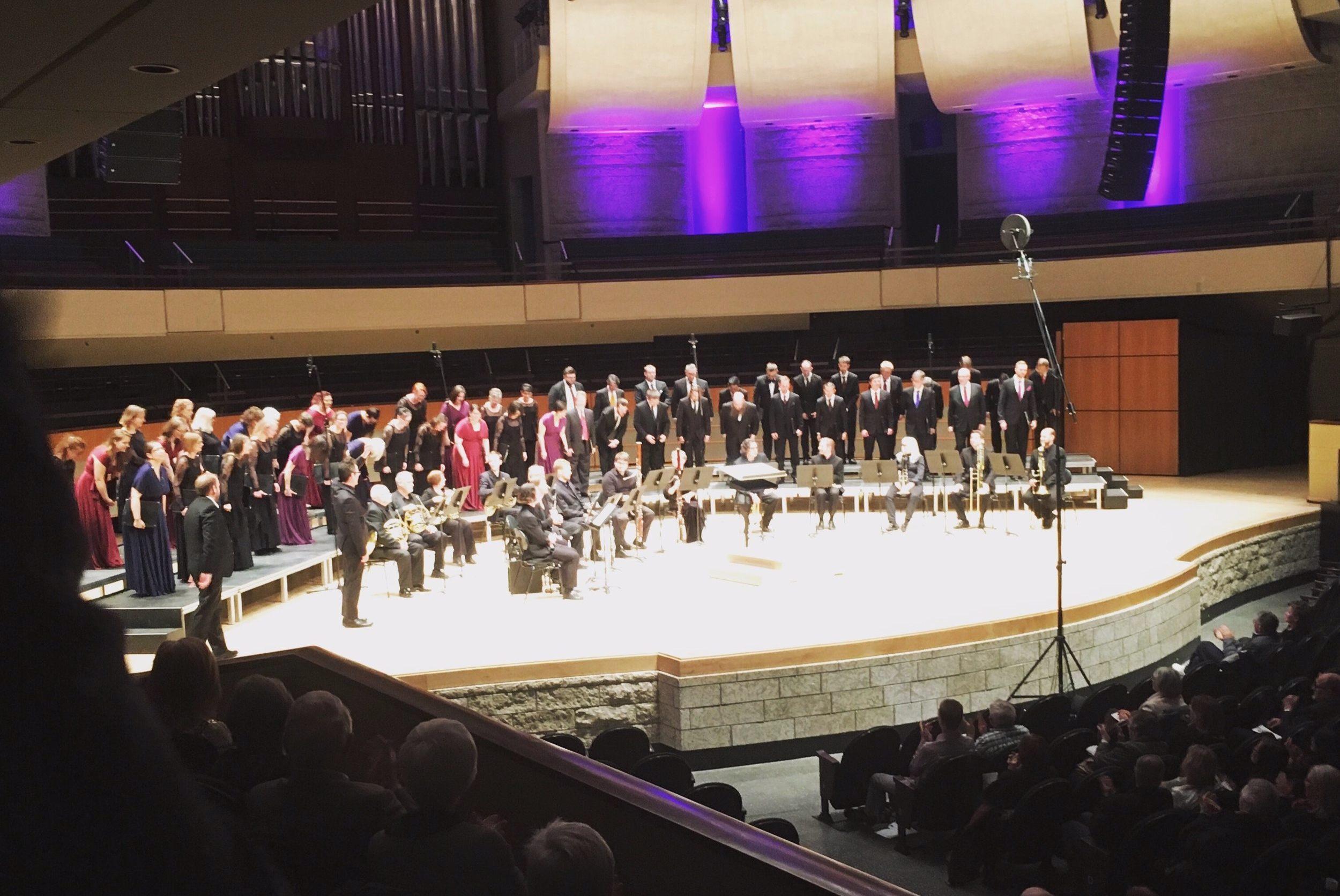 Pro Coro Canada on stage after their successful Good Friday Concert in the Winspear, Edmonton. (Photo: private)