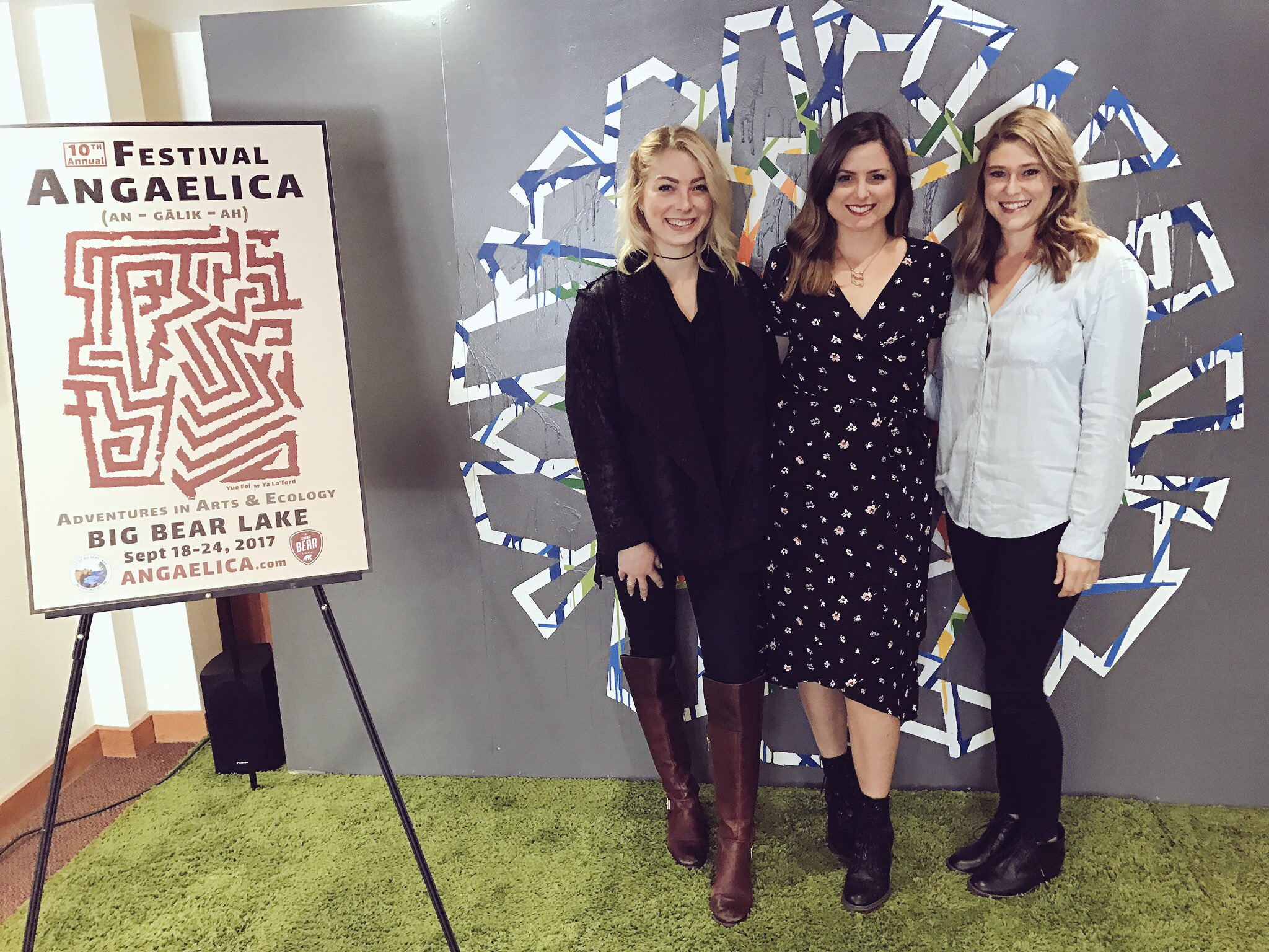 Girl Code team at Festival Angaelica - From Left: Kate, Casey, Jessica