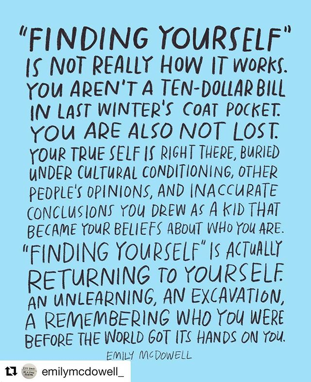 If this isn't what we all need to hear, I don't know what is. Here's to the unlearning.