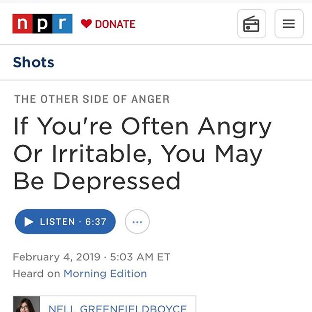 I think this is a really important thing for folks who don't work in mental health to recognize. Irritability is often very high in folks suffering from depression.  And it often magically mellows with treatment. Hooray!
