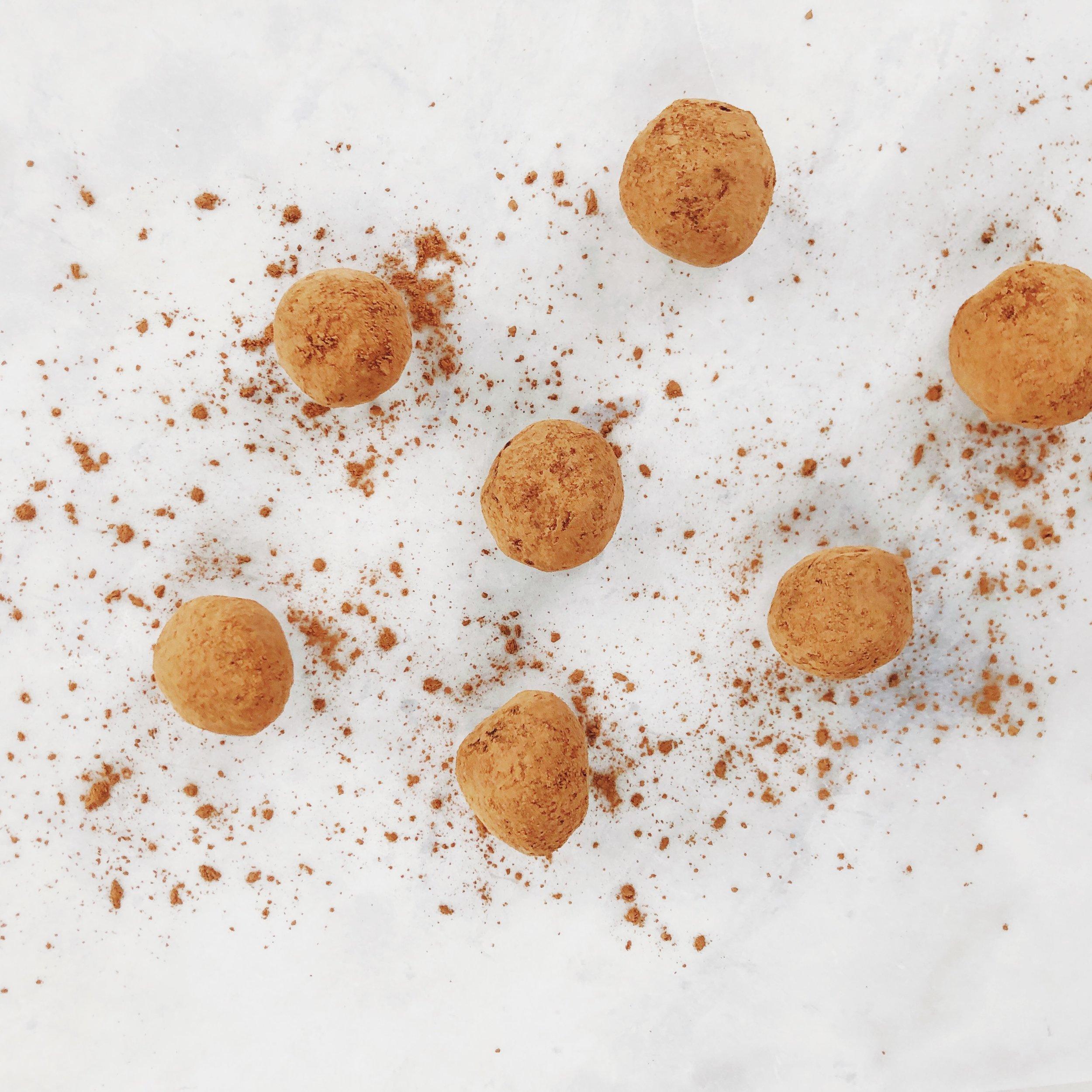 Raw cacao truffles - PROTEIN OMEGA 3 + FIBER