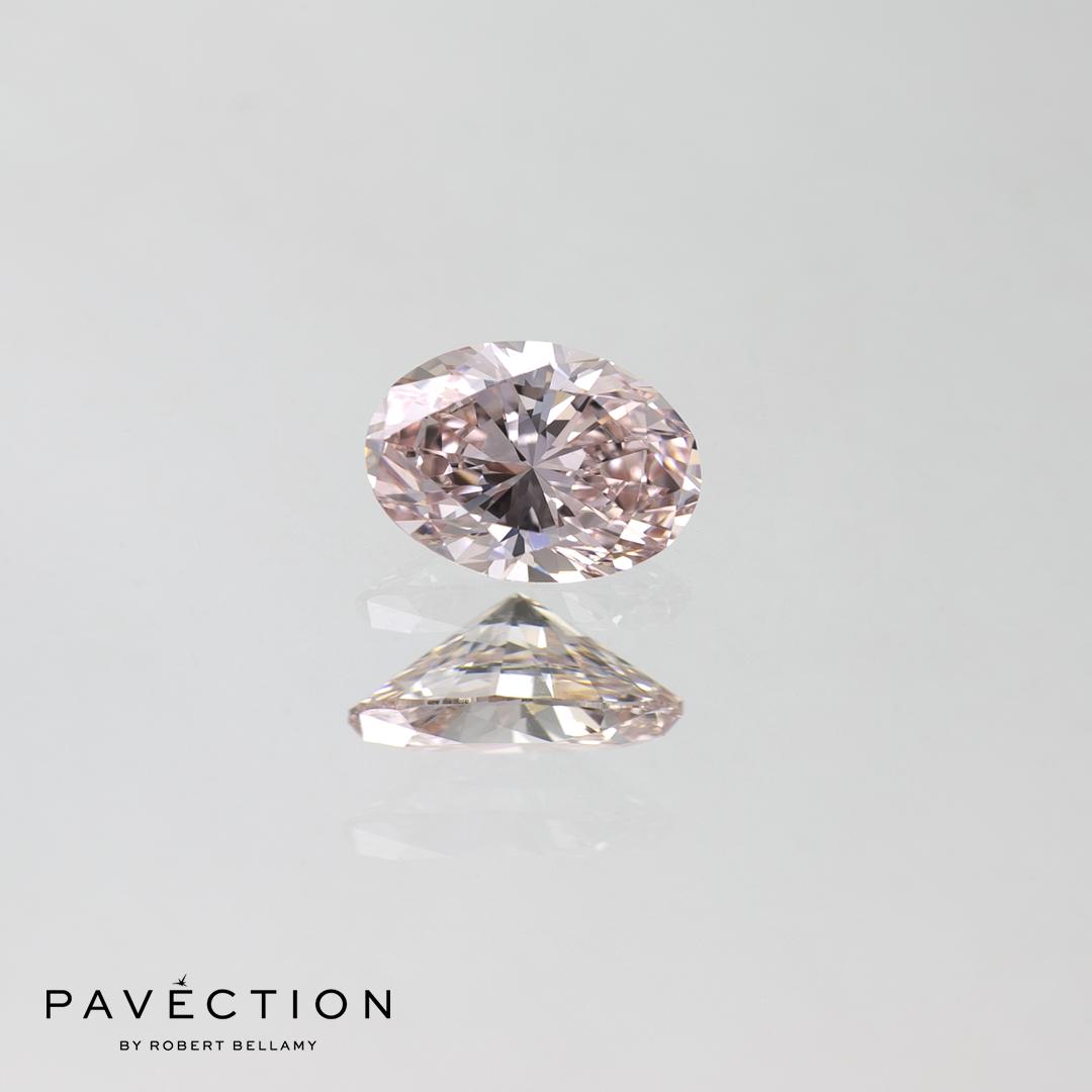 0.48ct Fancy Light Pink Internally Flawless Oval Cut Diamond