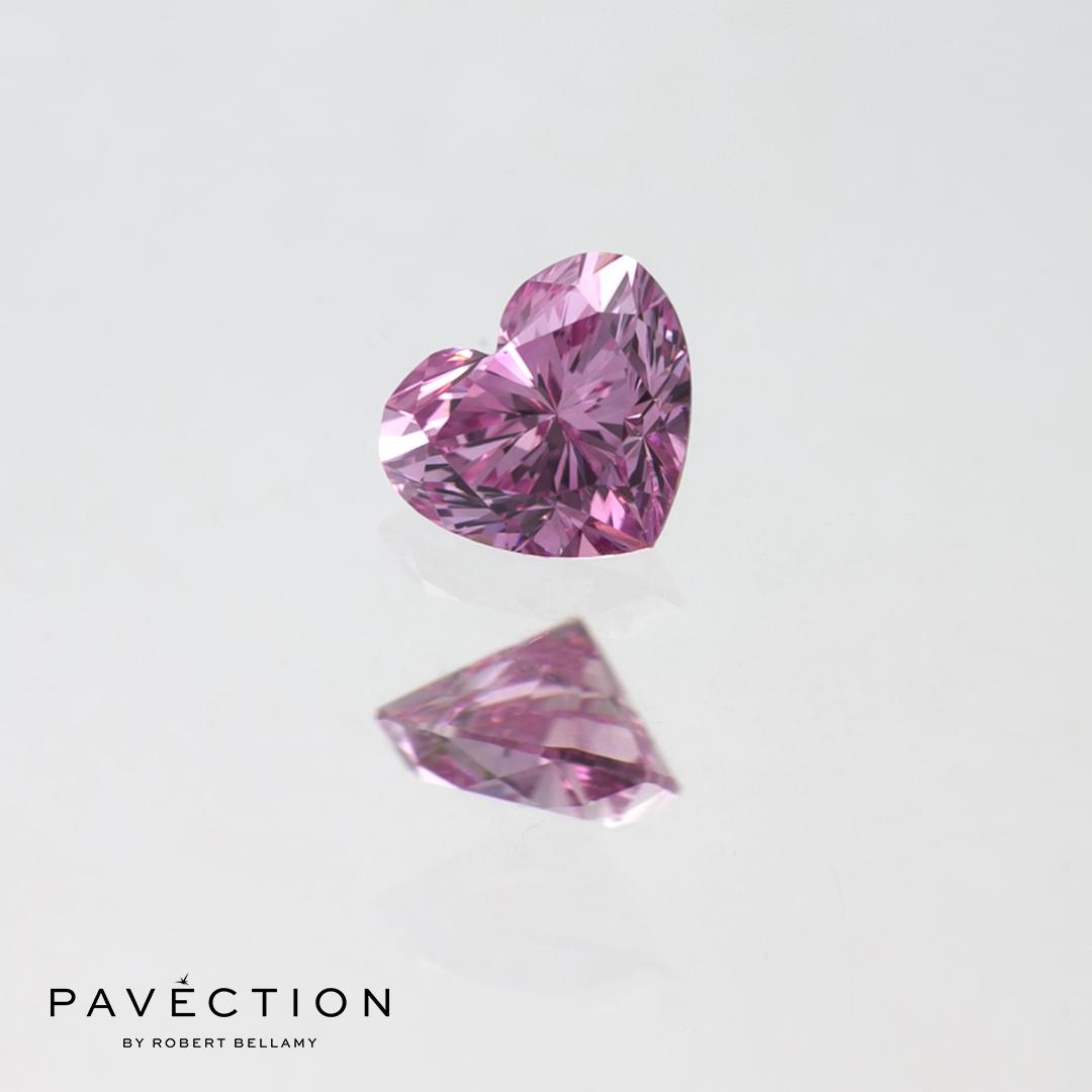 0.15ct 5PP VVS1 Heart Cut Argyle Diamond