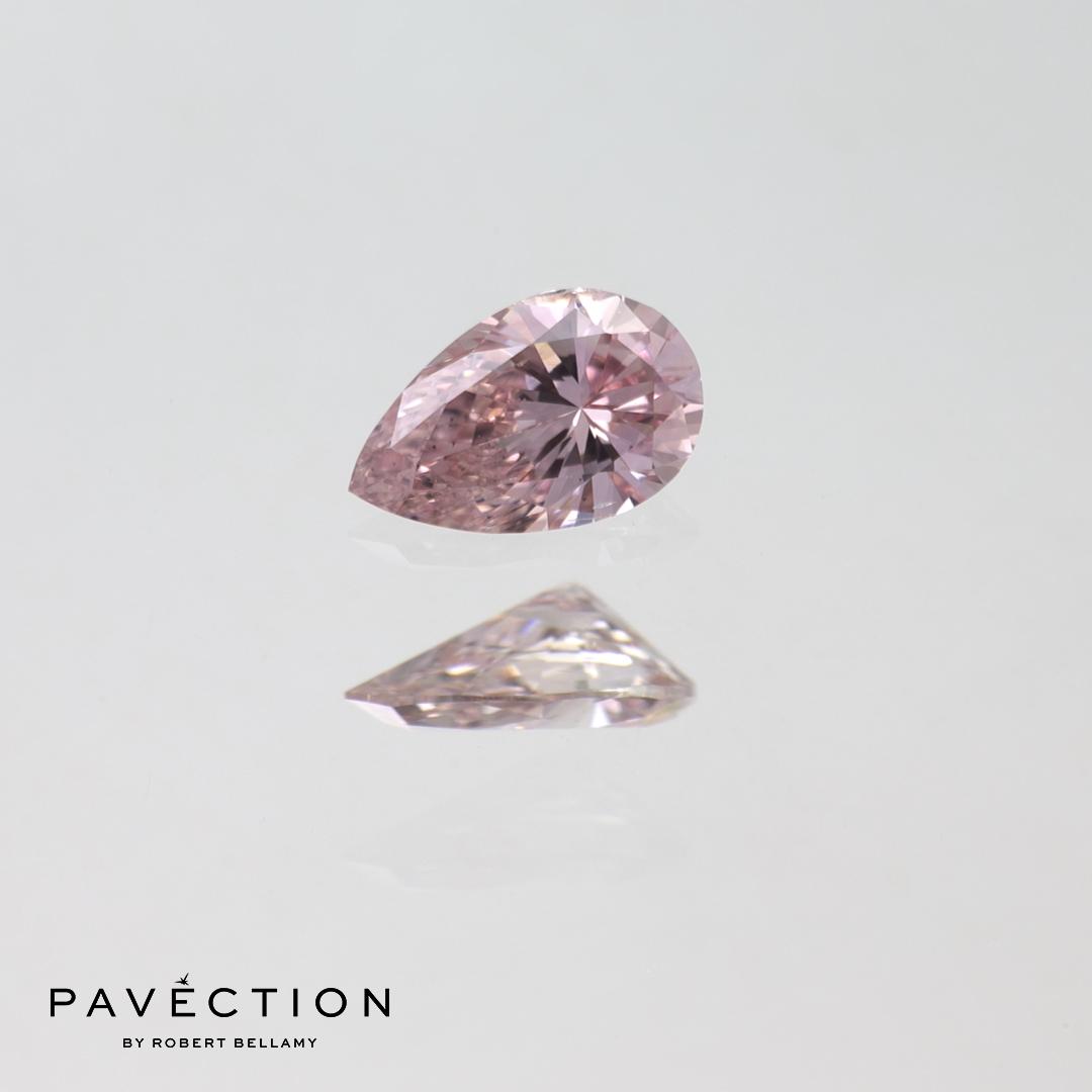 0.15ct Pc1 SI1 Pear Cut Argyle Diamond