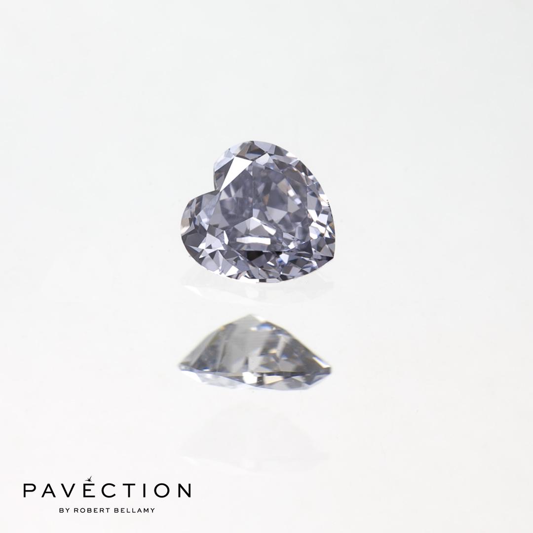 0.16ct BL1 VVS2 Heart Cut Argyle Diamond