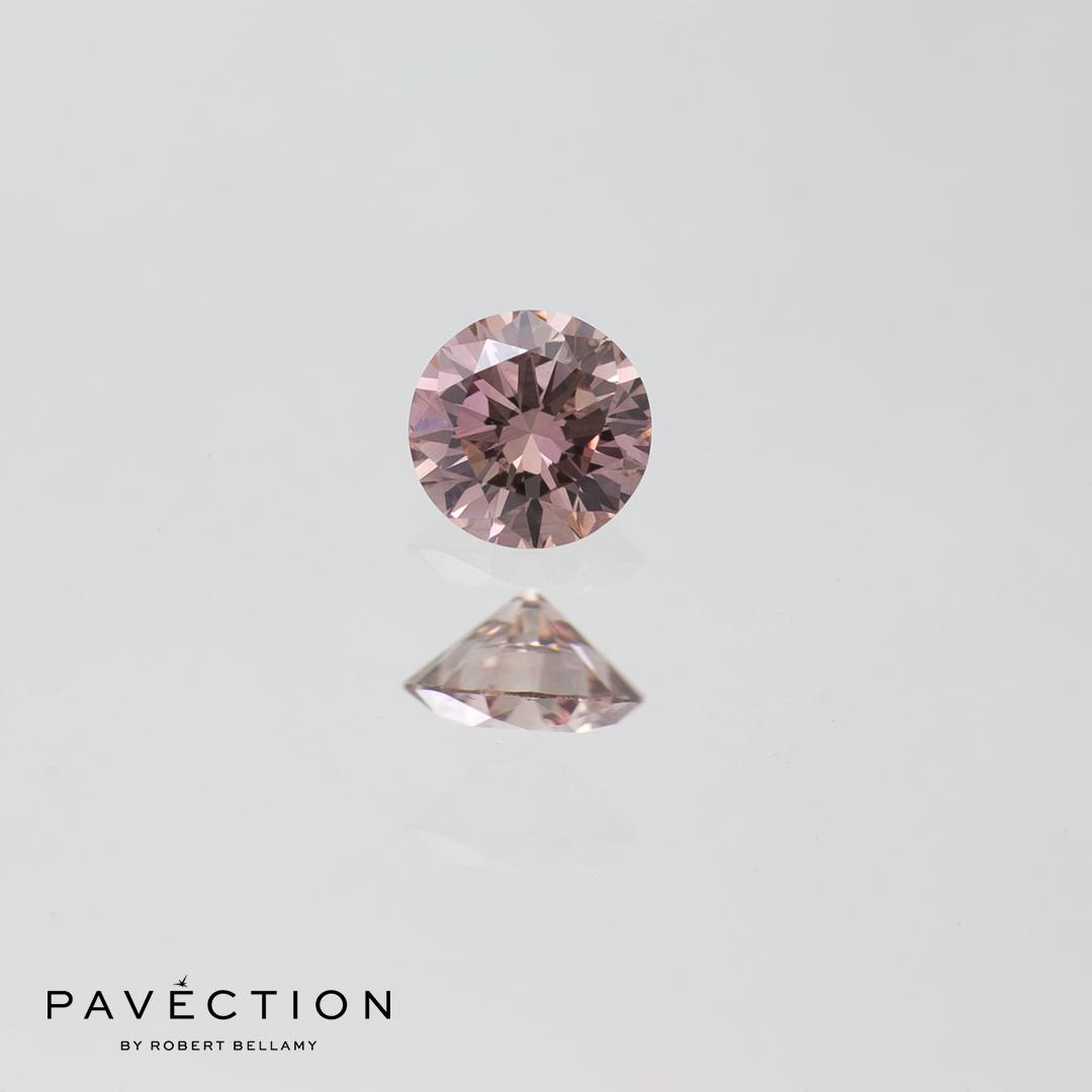 0.16ct Pc2 SI1 Round Brilliant Cut Argyle Diamond