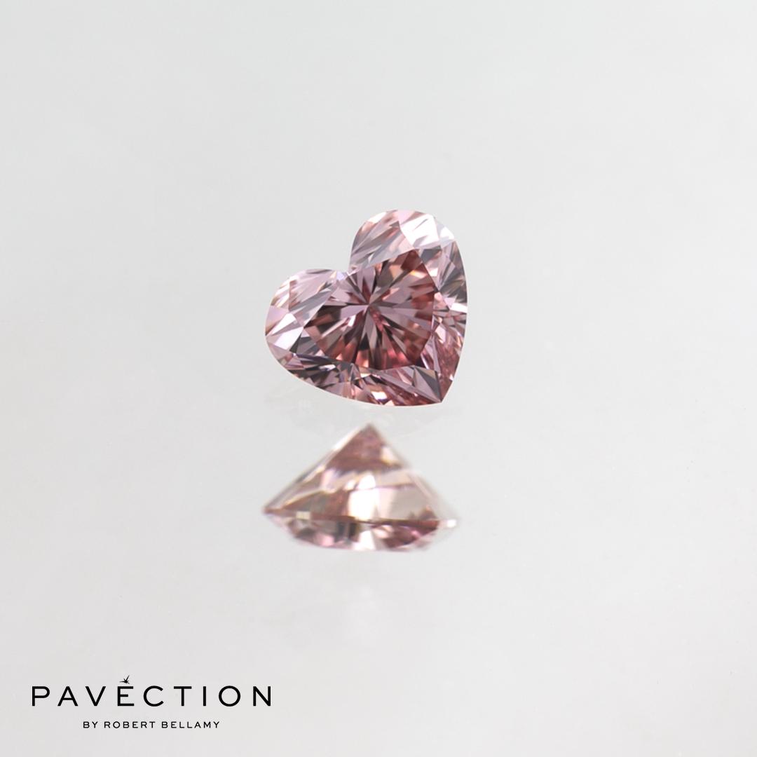 0.18ct 6PR VVS1 Heart Cut Argyle Diamond