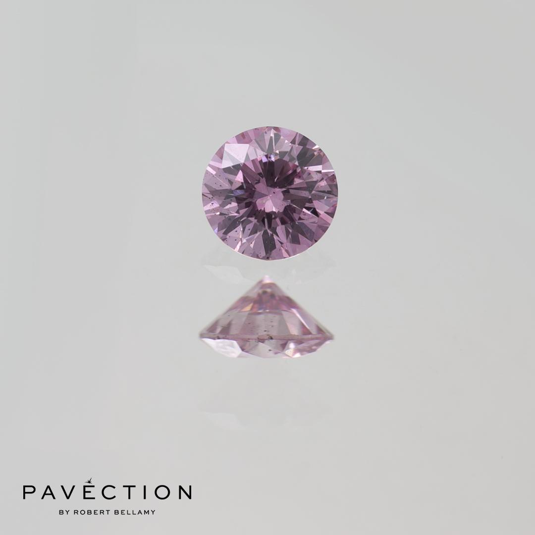 0.19ct 6pp SI2 (GIA SI1) Round Brilliant Cut Argyle Diamond