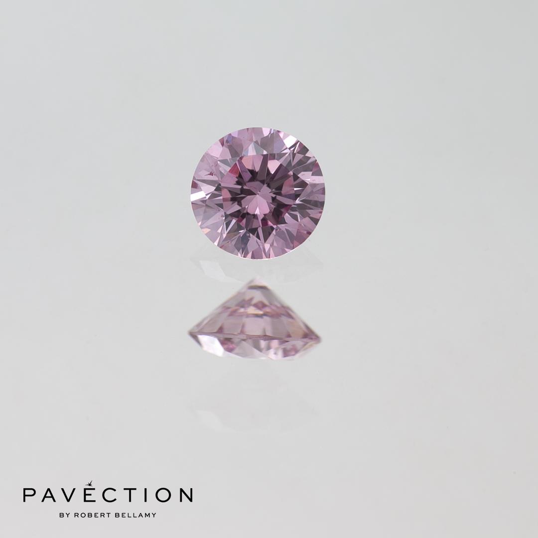 0.20ct 6PP P1 Round Brilliant Cut Argyle Diamond