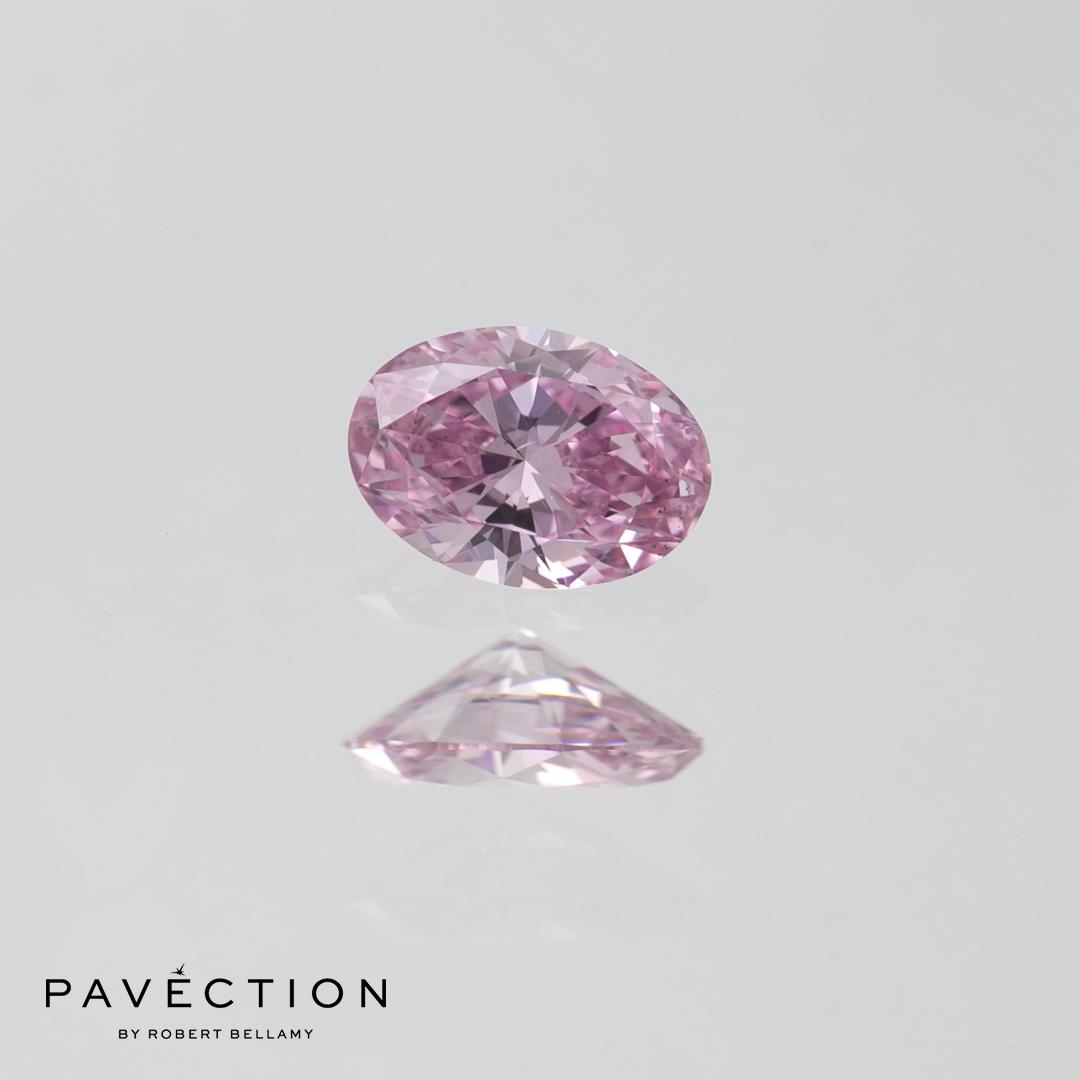 0.23ct 6PP SI1 Oval Cut Argyle Diamond