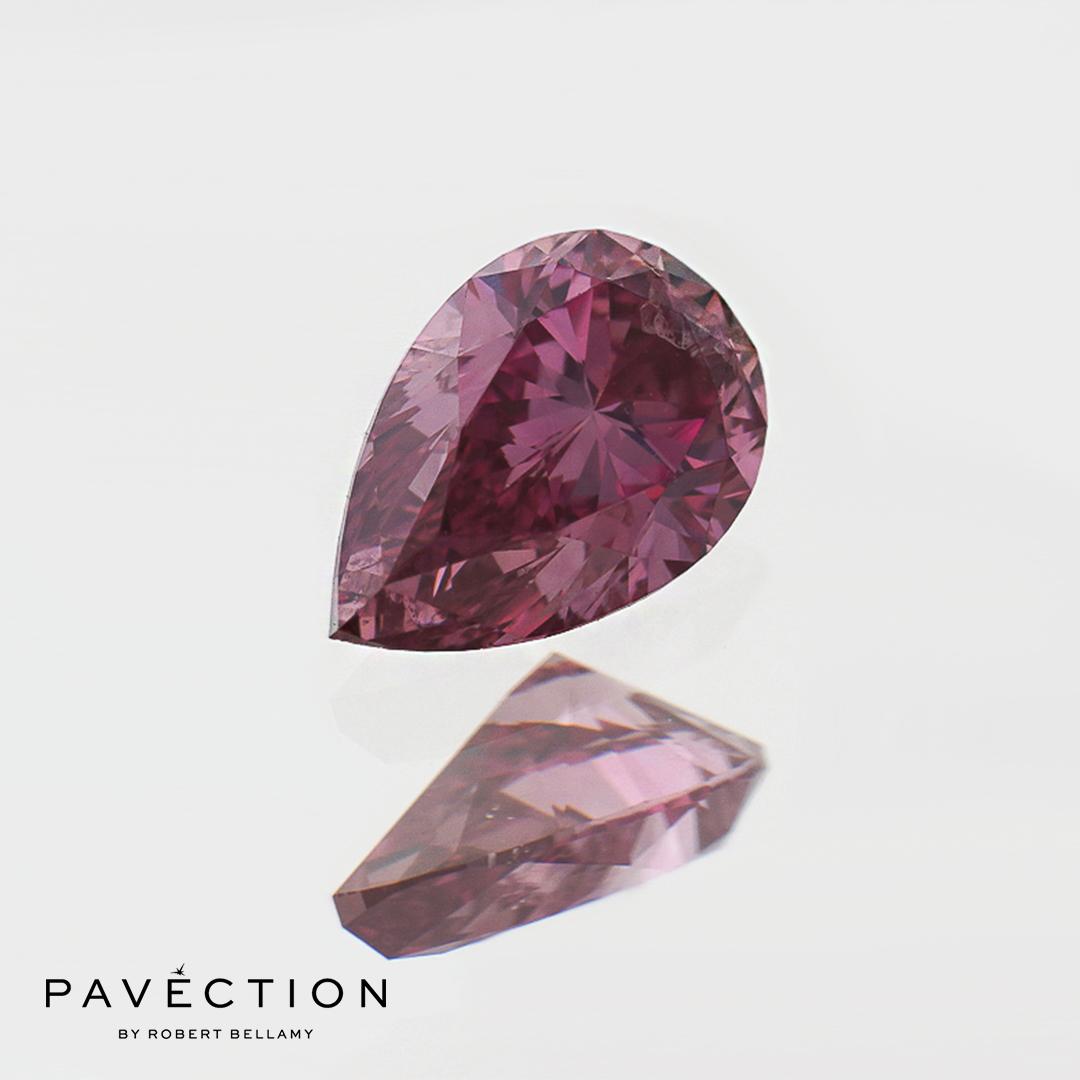 0.36ct 1PP Pear Cut Argyle Diamond