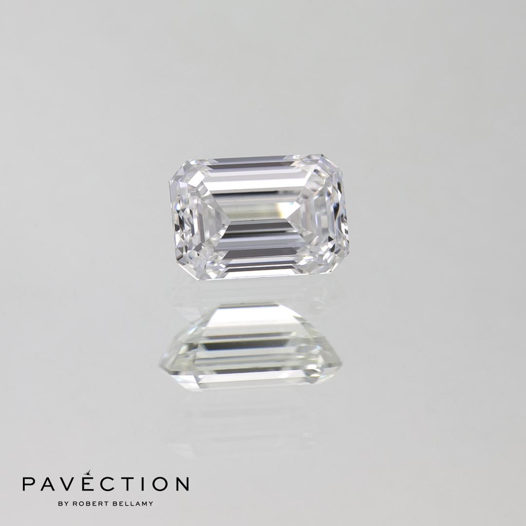 0 carat 50 point E Flawless Emerald cut half carat diamond Pavection robert bellamy brisbane city designer jewellery jewelry jewellers jewelers custom made.jpg