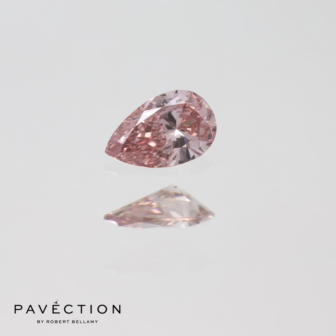 0 carat16 point PC2 Vs1 pink Pear cut argyle diamond Pavection robert bellamy brisbane city designer jewellery jewelry jewellers jewelers custom made.jpg