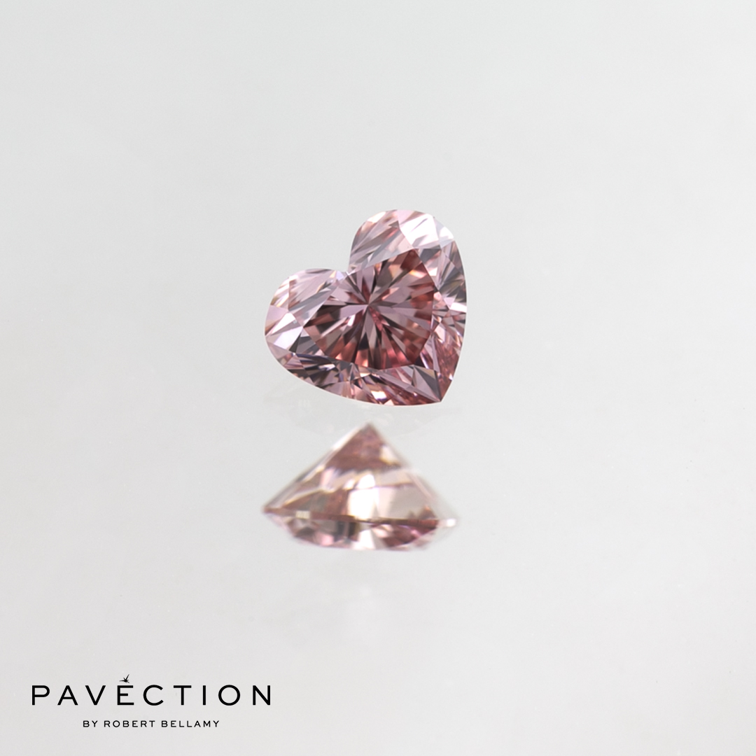 0 carat 18 point 6PR Vvs1 pink Heart cut argyle diamond Pavection robert bellamy brisbane city designer jewellery jewelry jewellers jewelers custom made.jpg