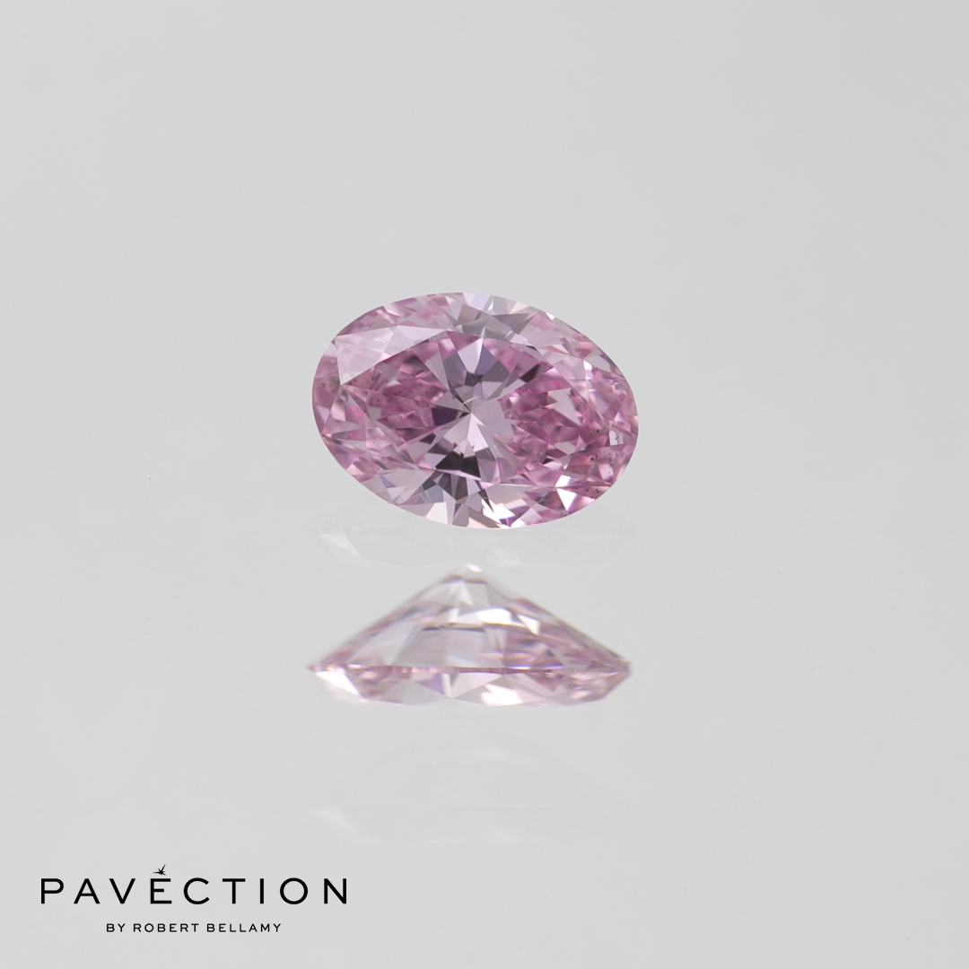 0 carat 23 point 6PP Si1 Oval purplish pink argyle diamond Pavection robert bellamy brisbane city designer jewellery jewelry jewellers jewelers custom made.jpg
