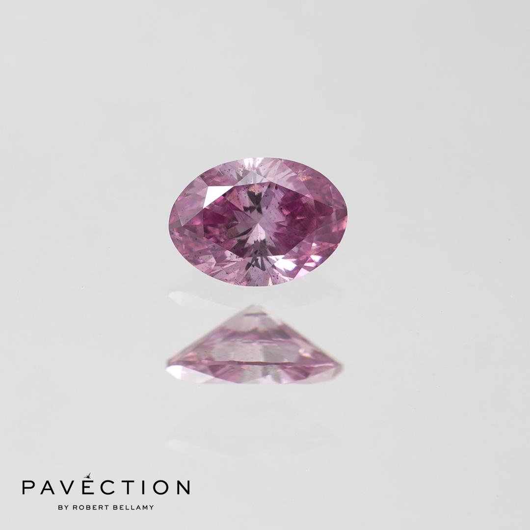 0 carat 25 point 4PP Si1 Oval purplish pink argyle diamond quarter carat Pavection robert bellamy brisbane city designer jewellery jewelry jewellers jewelers custom made.jpg