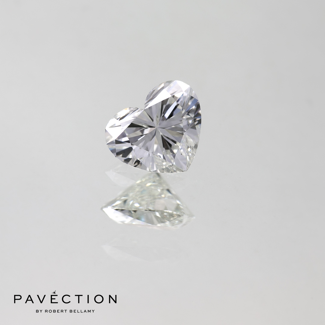 0 carat 53 point G Flawless Heart cut diamond Pavection robert bellamy brisbane city designer jewellery jewelry jewellers jewelers custom made.jpg