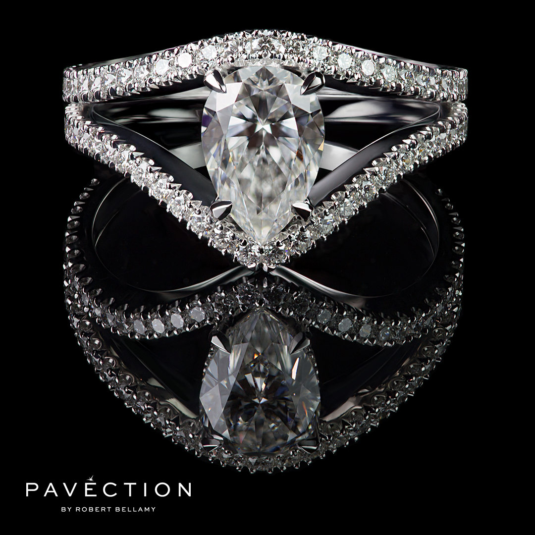 Pavection-Robert-Bellamy-Designer-Jeweller-Jeweler-Internally-Flawless-Pear-Shape-Split-Band-Diamond-Set-Platinum-Engagement-Ring-Brisbane-Sydney-Melbourne.jpg
