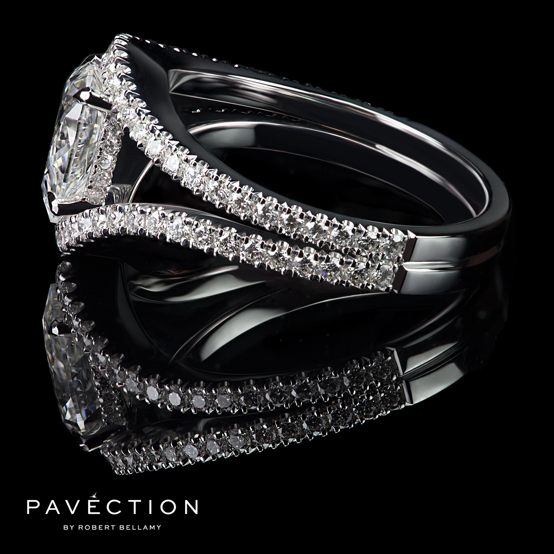 Pavection-Robert-Bellamy-Bespoke-Designer-Jeweller-Jeweler-Internally-Flawless-Pear-Shape-Split-Band-Diamond-Set-Platinum-Engagement-Ring-Brisbane-Sydney-Melbourne.jpg