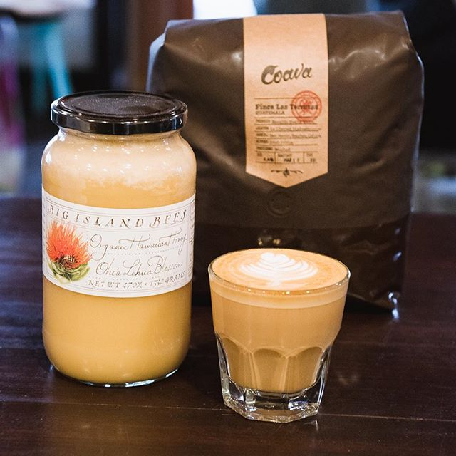 We love offering Bend our own original creations. The Lehua latte comes from Big Island Bees raw, Ohia Lehua flowers honey. It's perfectly complete with cinnamon, fresh espresso and velvety textured milk.