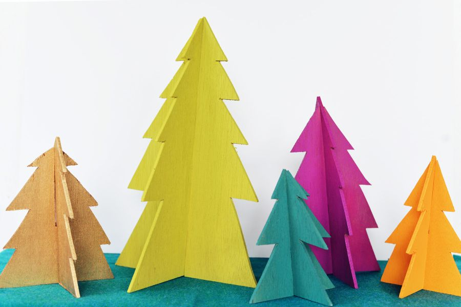 3D Christmas Trees >