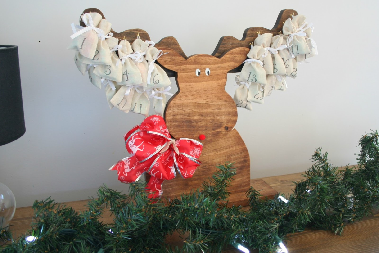 Rustic Advent Moose >