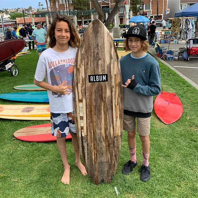What do you guys think, time to make some grom boards? . . @the.alive playing later today at the vintage swap meet. Get here. @albumatt @albumsurf @randysurforama @hobiesurfshop  #surf #agave #vintage #swapmeet #surfboard #sale