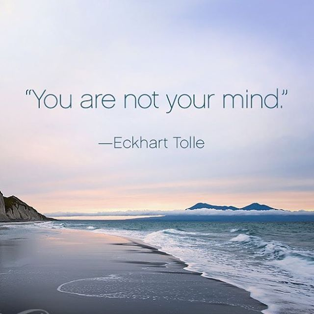You are NOT your mind..but most of the time we 'think' we are..if we can break free from the illusion of having to 'be there' to be happy, we can find peace in the moment that's right in front of us..easier said than done!! I need reminding of this more than ever..starting a new business has had me in work mode and more often than not I've had to check myself and come back to the moment.. . . #spiritmama #brainoverload #beherenow