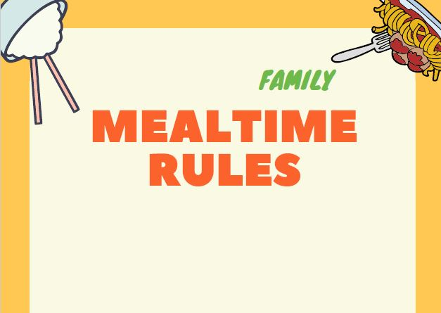 mealtime rule sheet