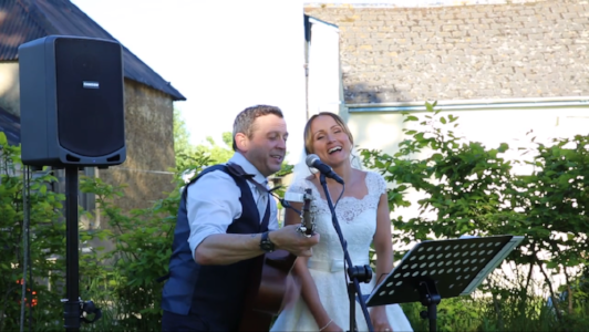 Singing with the bride