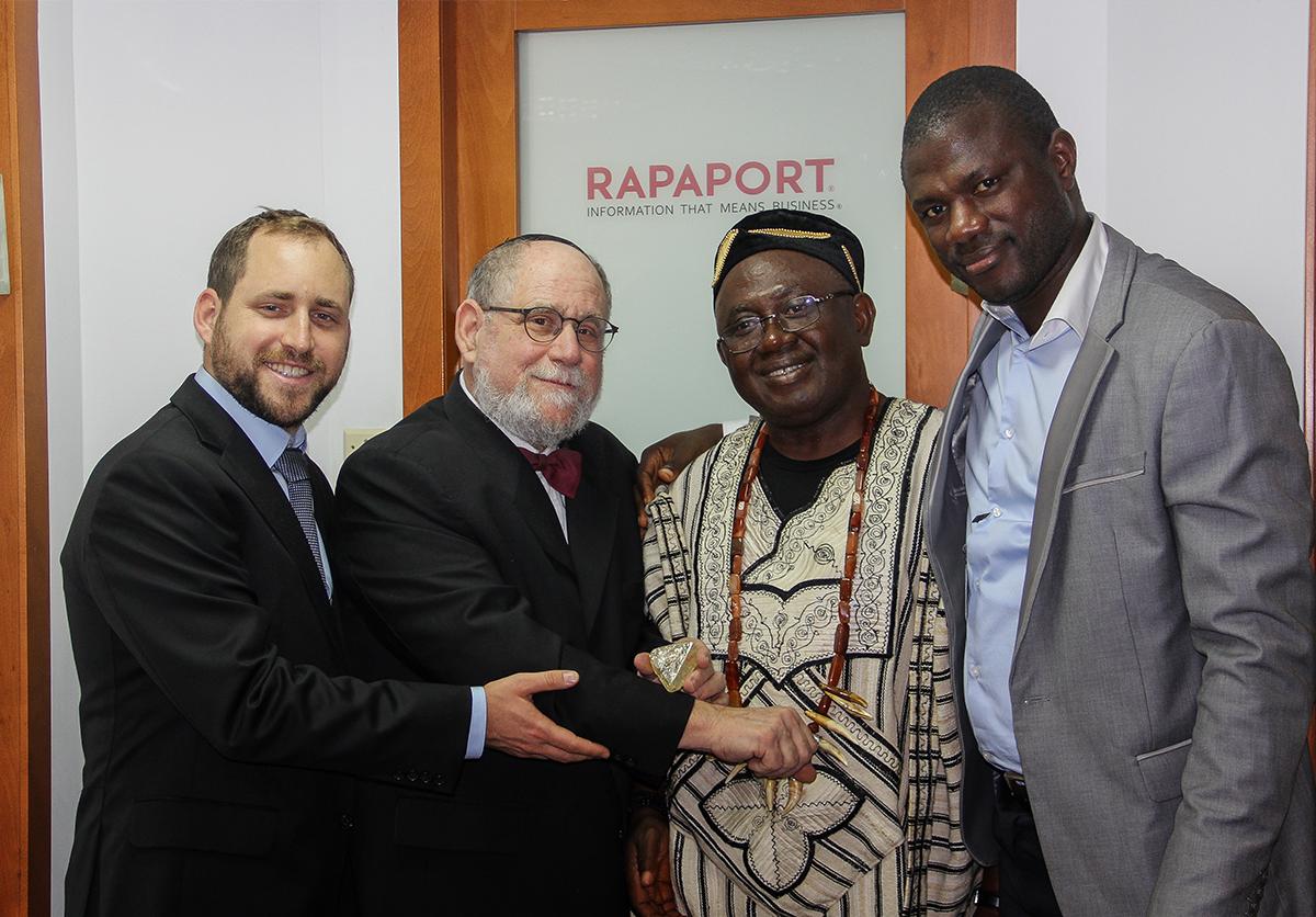 Pastor Momoh, Dr. Koroma, President of Sierra Leone, Martin Rapaport and Ezi Rapaport