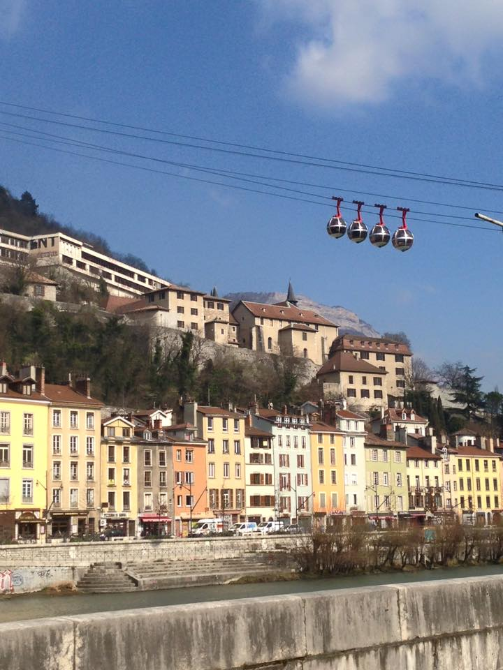Beautiful view of Grenoble, France