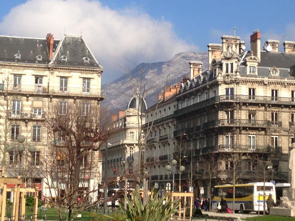 Sunny day in Grenoble, France