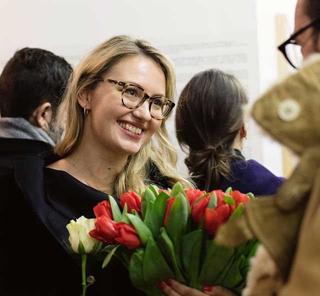 One more picture of Alise from last Friday's gallery opening. Thanks @arterritory_com for capturing these moments of overwhelming happiness. Sometimes life has to be celebrated, and it was that type of a night for our gallery.  As often, a lot of people that make the dreams reality are not on pictures, but you know who you are and our enormous thanks goes to you for being with us in this journey!