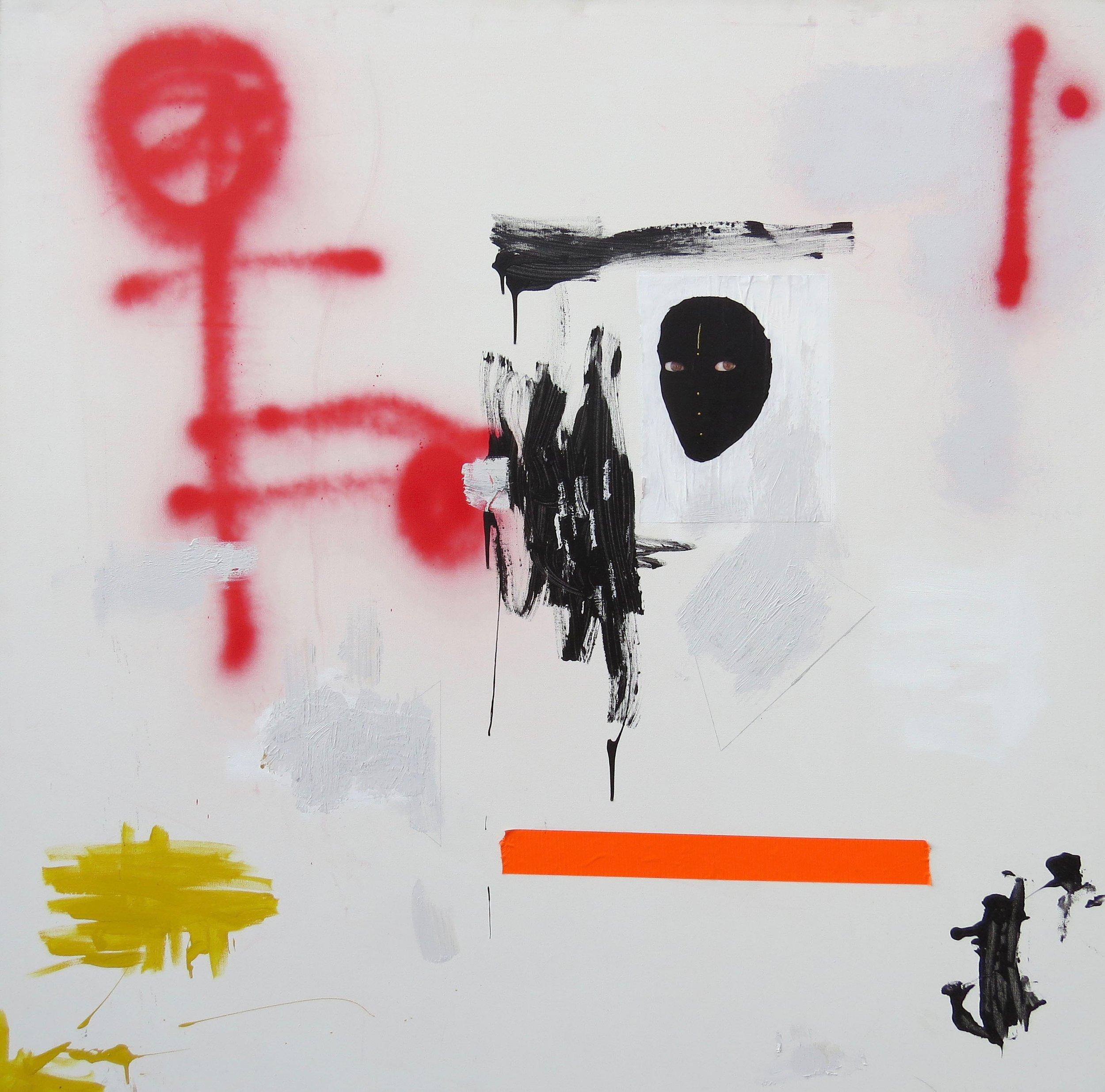 room , 4' x 4', acrylic on canvas - 2016