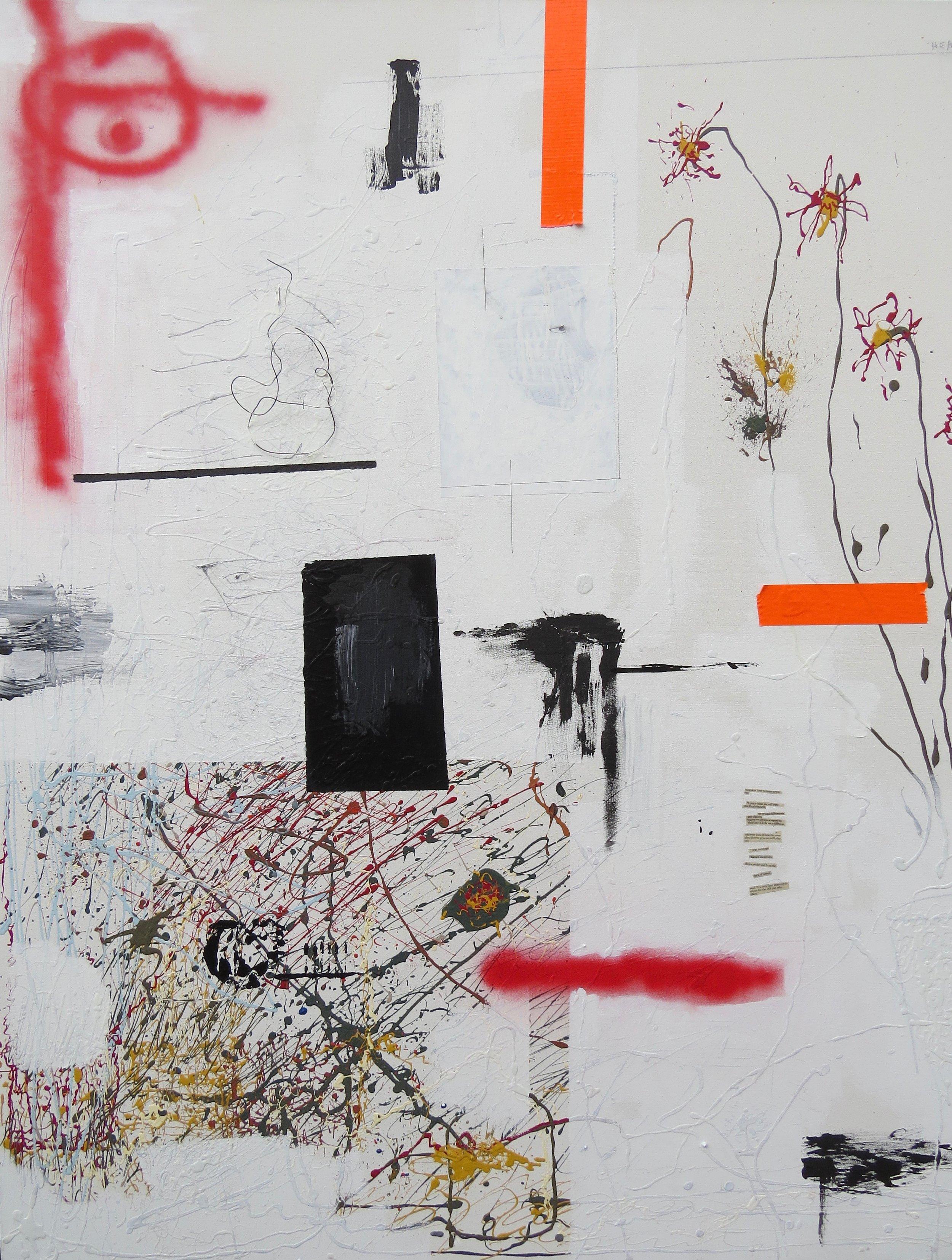heavy , 4' x 5', mixed media on canvas - 2016