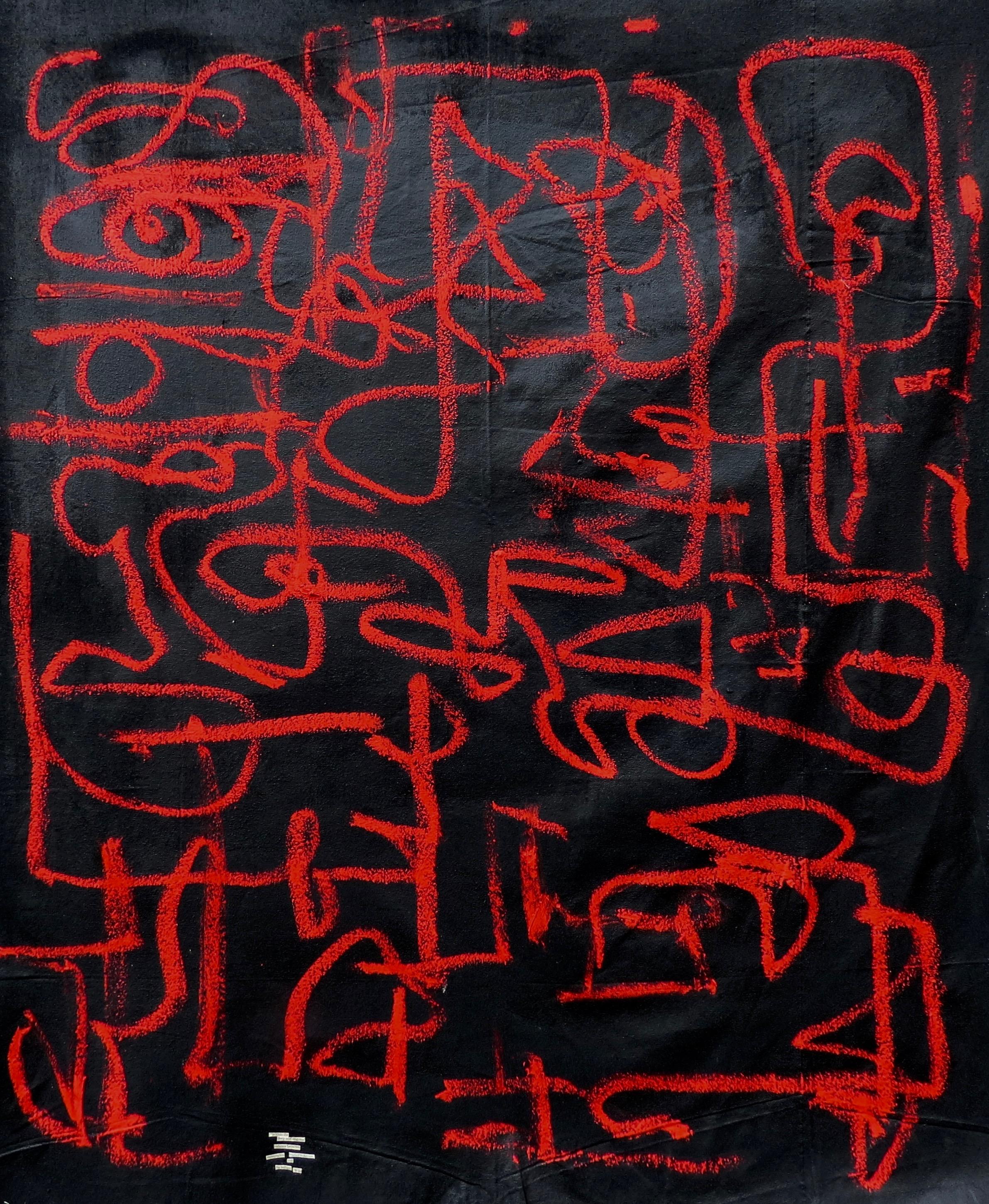 "the wild, 3'4"" x 4'5"", oil stick, acrylic on canvas - 2018"