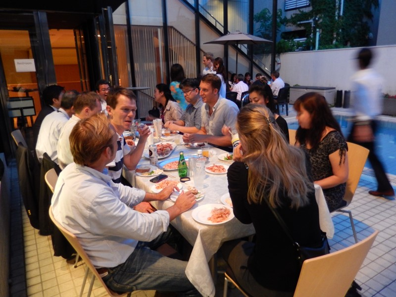 Participants gathered at the Norwegian Embassy for the NCCJ's annual Shrimp Party
