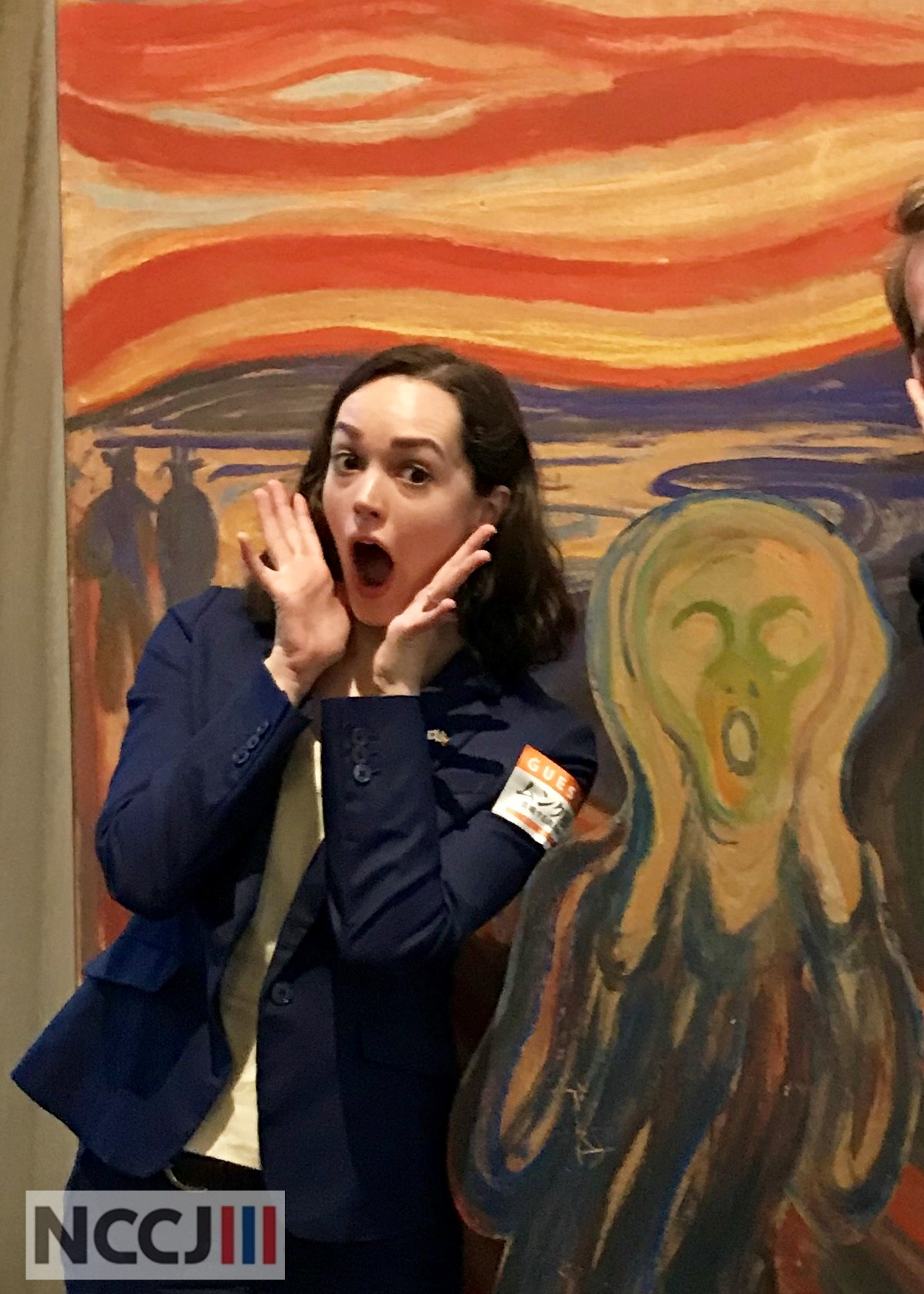 Our ED Anette Yamamoto-Hansen at the Munch Exhibition